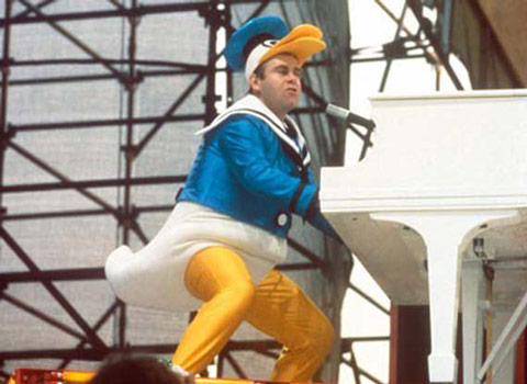 Elton John as Donald Duck