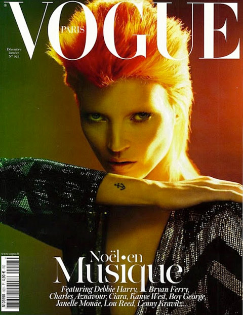 Kate Moss as David Bowie