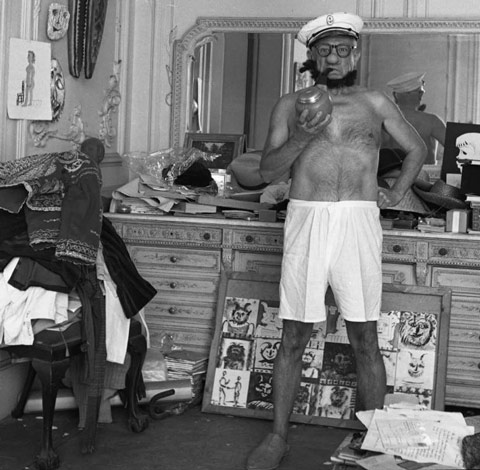 Pablo Picasso as Popeye