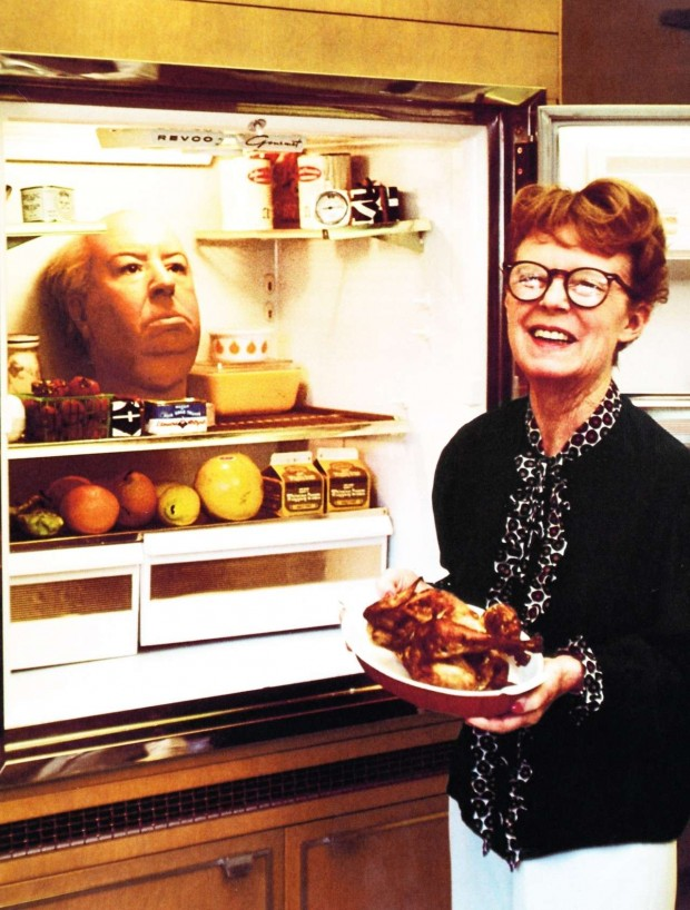 Alma-Hitchcock-with-Alfreds-Wax-Head-in-the-Fridge-620x818